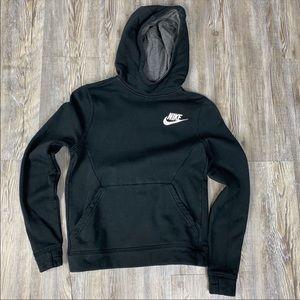 Nike Black Fleece Hoodie Sweatshirt Size Medium